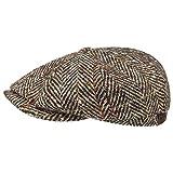 Stetson Hatteras Herringbone Flat Cap Men Beige 7