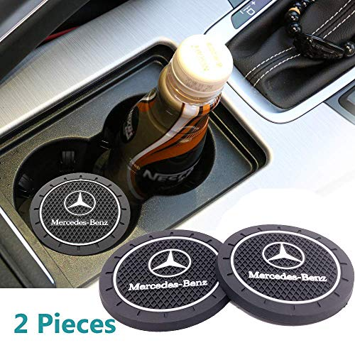 2pcs Cup Holder Insert Coaster for Mercedes-Benz,for Mercedes Accessories