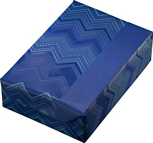 Woerner 130613 Geschenkpapier Rolle, 50 cm x 200 m, zick zack blau