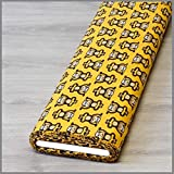 Jersey Yoga Affen gelb * Kinderstoff * Trikot * Meterware *