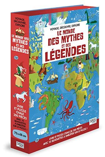 Le Monde des Mythes et Legendes: Avec 1 puzzle de 200 pièces et 10 silhouettes à emboîter