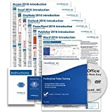 Microsoft Office 2016 DELUXE Training Tutorial Course- Video Lessons, PDF Instruction Manuals, Printed and Laminated Quick Reference Guide, Testing Materials, and Certificate of Completions