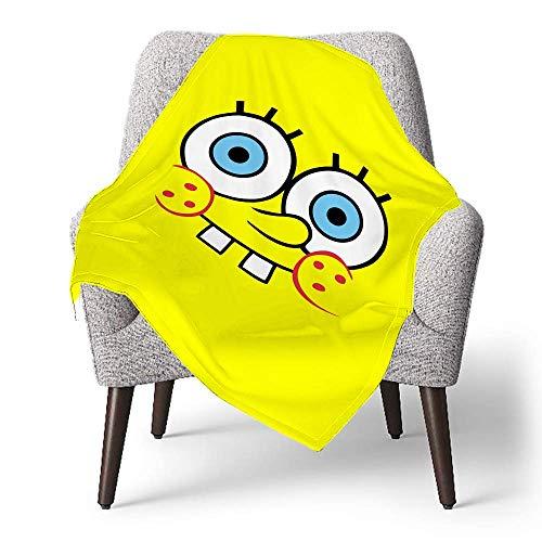 IUBBKI Manta de forro polar personalizada para niños, Bob Esponja Bob Esponja (48), manta súper suave para bebé para cuna, cama, sofá, silla, sala de estar