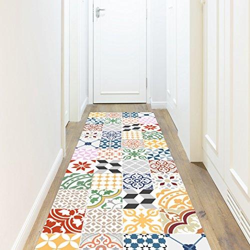 VINILIKO, Alfombra de vinilo, Multicolor, 66x250 cm