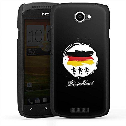 Hülle kompatibel mit HTC One S Handyhülle Case Football Deutschland Fussball
