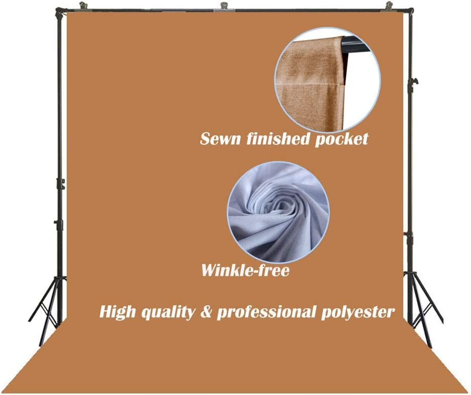 SR-2030 Photography Backdrop Bright Yellow Background Solid Color Screen Back Drops vloger Video Studio Photoshoots Portrait Simple Fabric Cloth for Professional or Amateur Photographer 6x10ft