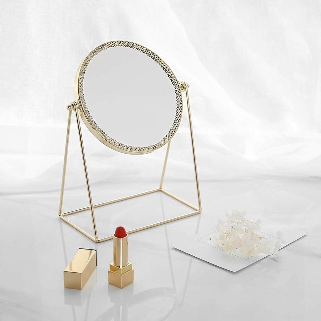 考古学クロールなぞらえる流行の 現代の創造性ゴールドラウンドアイアンフレーム+ミラーデスクトップミラー/化粧鏡