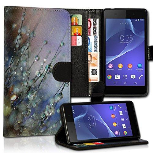 wicostar Book Style LG L Bello Premium PU-Leder Tasche Flip Brieftasche Handy Hülle Kartenfächer mit Standfunktion für LG L Bello - Design Flip MVC111