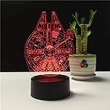 Solo 1 pieza Lámparas De mesa 3d para sala de estar Lámpara De regalo De Navidad Lamparas De Mesa Moderne 7 Cambio de color Lámpara De escritorio Usb 3d