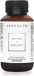 JSHealth Vitamins, Detox and Debloat | Liver Cleanse and Detoxification | Liver Rescue Formula with Milk Thistle, Turmeric, Fennel | Liver Health Supplement (60 Capsules)