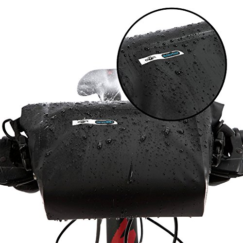 BTR Wasserfeste Allwetter Lenkertasche für jedes Fahrrad mit Abnehmbaren Schultergurt. Fahrradtasche Wasserdicht Lenkertasche Fahrrad Wasserdicht - 3