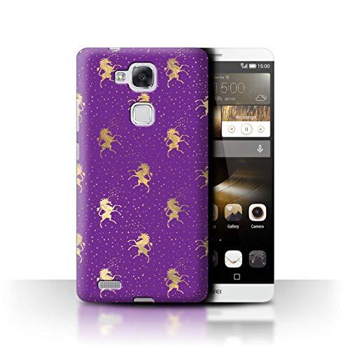 eSwish Hülle/Hülle für Huawei Ascend Mate7 / Magische Einhorn Sterne Muster/Magische Prinzessin Muster Kollektion