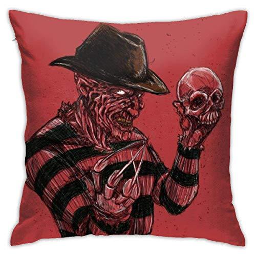 Lucky Home Cauchemar sur Elm Street Couvre-oreillers taies d'oreiller décoratives en Coton pour Salon canapé canapé lit taies d'oreiller Souples 18 x 18 Pouces 45 x 45 cm