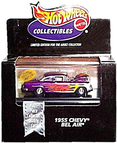 Hot Wheels Collectibles Limited Edition Cool Collectibles 1955 evy Bel Air (lila w Flame Graphics) Mounted in Collector 's Display Case