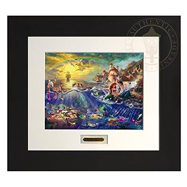 The Little Mermaid - Thomas Kinkade Disney Modern Home Collection (Espresso Frame)