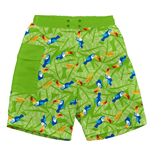 i play. 722169-509-43 Schwimmwindel- Badeshorts Pocket 6-12 Monate, Toucan, lime