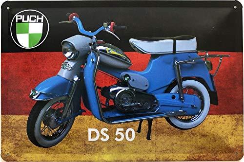 Deko7 metalen bord 30 x 20 cm motorfiets Puch DS50 - Duitsland