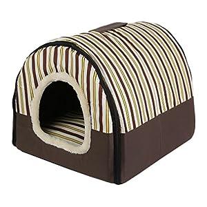 Chiot Chat Maison avec tapis de chenil Nid, Sac Souple Lit pour chiens de petite taille medium pour animal domestique confortable Voyage Tente, chat couché Sunbath Lit