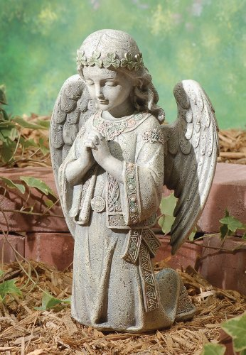 Joseph's Studio by Roman - Collection, 12.25' H Celtic Kneeling Angel, Made from Resin, High Level of Craftsmanship and Attention to Detail, Durable and Long Lasting