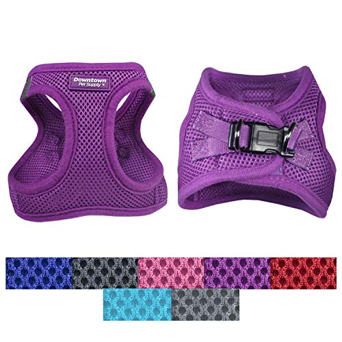Downtown Pet Supply No Pull, Step in Adjustable Dog Harness with Padded Vest, Easy to Put on Small, Medium and Large Dogs (Purple, S)