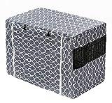 Copertura per gabbia per cani, in nylon resistente, impermeabile, antivento, per cuccia per animali domestici, per interni ed esterni, colore: grigio
