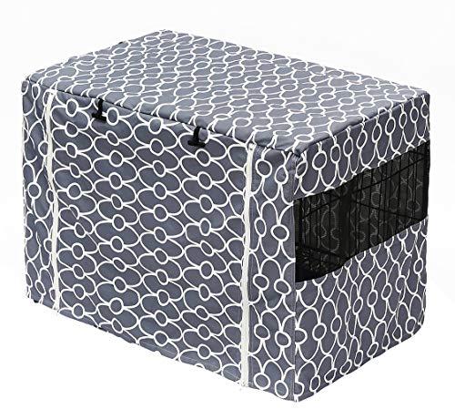 ペット 大中小型犬 ケージサークルカバー 保温 防寒 虫よけ 防水 年中使え リラックスホーム作り 使いやすい 折りたたみ 携帯収納便利 ドッグケージカバー グレーM