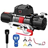 ZEAK 13000 lb. Premium Electric Winch 12V Waterproof Synthetic Rope, Wireless Remote, for Jeep Wrangler Truck
