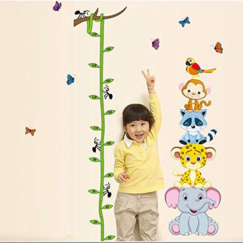 Zhzhqm DIY Autocollant Mural Children Room Height Cartoon Animals Kindergarten Chambre d'enfants Mur de Fond Chambre d'enfants Home