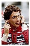 FM Ayrton Senna Signiert Autogramme 21cm x 29.7cm Plakat
