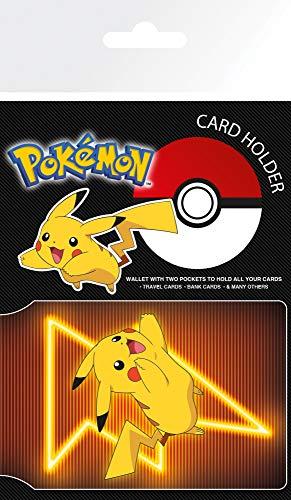 1art1 Pokemon - Pikachu Neon Tarjeteros para Tarjetas De Crédito (10 x 7cm)