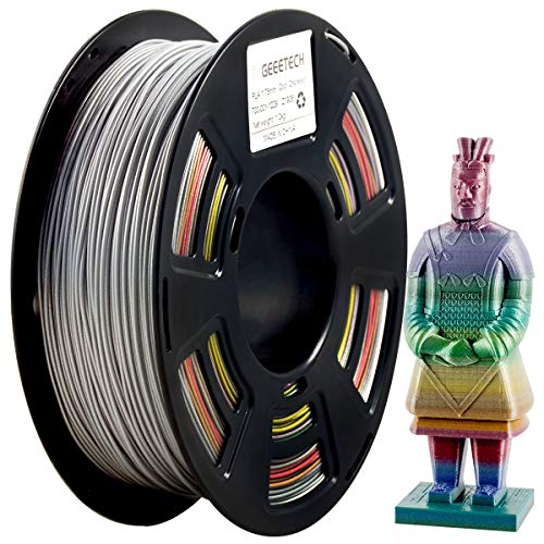 GEEETECH Filamento PLA 1,75 mm, filamento glitter per stampante 3d, 1 kg, 1 spool, colore gradiente PLA