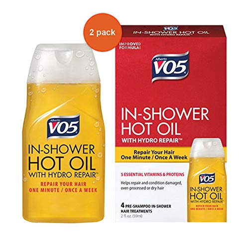 2x Alberto VO5 Hot Oil Shower Works Weekly Deep Conditioning Treatment 2.oz