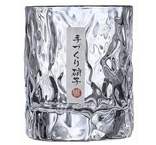 PEFINI Whisky Glas (1 Stück), Whiskey-Tumbler, hochwertig und japanisch, mit Hammer verarbeitet, perfekt für Ihre Sammlung und als Geschenk