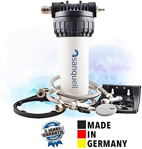 sanquell Wasserfilter Solo Untertisch für die Küche, Made in Germany, 5 Jahre Garantie, Schnellkupplungen für einfachen Filterwechsel und modulare Wasserfilter-Erweiterungen