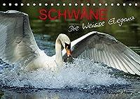 SCHWAeNE. (Tischkalender 2022 DIN A5 quer): Die Weisse Eleganz (Monatskalender, 14 Seiten )