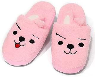Teblacker BTS Winter Cotton Slippers, Kpop Bangtan Boys ungkook, Jimin, V, Suga, Jin, J-Hope, Rap Monster Warm Soft Cartoon Household Non-Slip Shoes for The Army(Cooky)