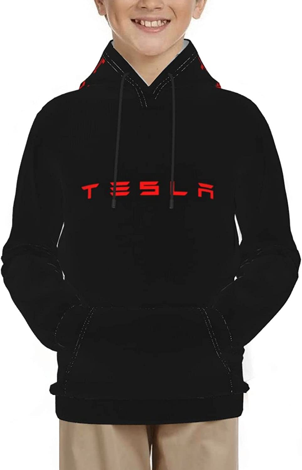 Tesla New Energy Technology Boy Girl 3d Pri Kid Popular products Fixed price for sale Teenager Hoodies