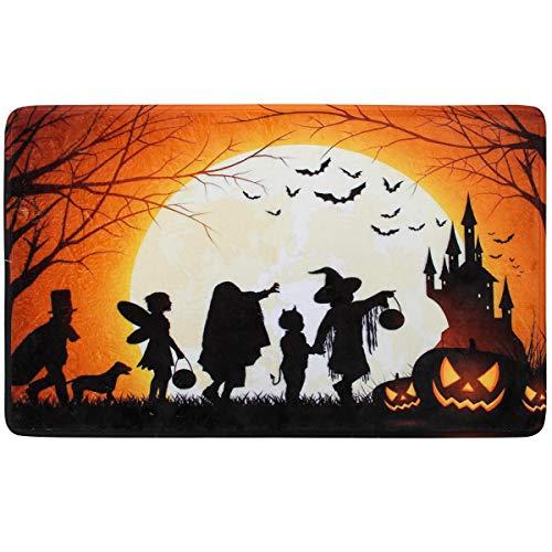 Coitak Halloween-Fußmatte, für drinnen und draußen, rutschfest, perfekte Türvorderseite, 61 x 39,4 cm