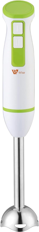 Batidora de mano de acero inoxidable, 2 velocidades - 200W - batidora de varilla con pie desmontable