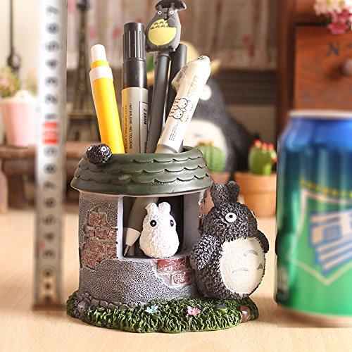 YOURNELO Cartoon Multipurpose Totoro Pen Pencil Holder Desk Organizer (Castle)