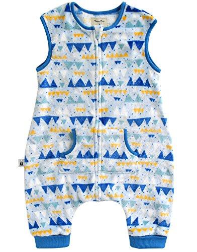 Vaenait baby 1-7Y Ultra Soft Plush Fleece Kids Boys Wearable Blanket Slepper Blue Alps S