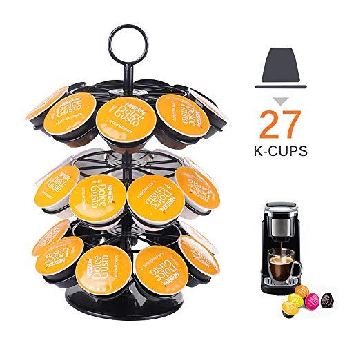 Porta capsule caffè compatibile con Dolce Gusto, ABEDOE Supporto per Torre Rotante per Capsule per Caffè in Cialda Compatibile con Capsule per Caffè K-Cup Dolce Gusto Nespresso