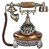 FTFTO Equipo de Vida Teléfono Máquina de marcación de Botones Retro Europea Oficina en casa Teléfono Fijo de Negocios Adornos de artesanía para el hogar 25 * 22 * 27 mm