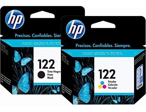 HP 122 Ink Cartridges Combo ( Black + TRI-COLOR ) Original Ink Cartridge Deskjet - 2 Pack