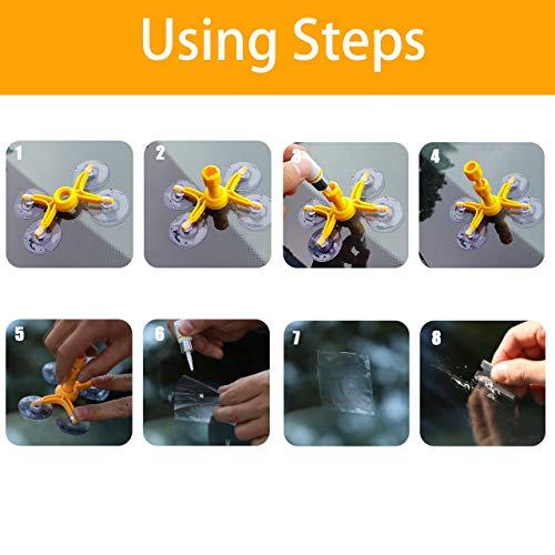 DEDC Kit de Reparaci/ón de Parabrisas para Coche Herramientas de Reparaci/ón de Vidrios de Auto para Reparar Ara/ñazos Grietas Roturas