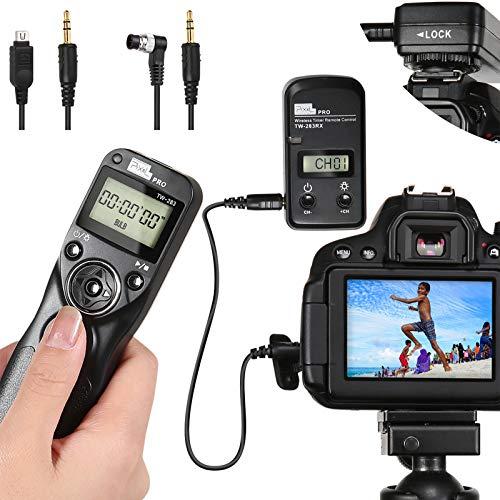 Wireless Remote Control Shutter Release for Nikon, Pixel TW283-DC2/DC0 Intervalometer for Nikon D3100 D5000 D90 D7000 D750 D800 D810 D500 D4 D5