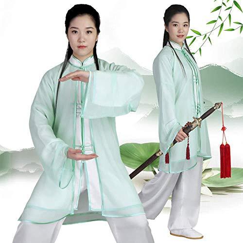 JTKDL Abbigliamento da Allenamento per Donna Uniforme Tai Chi Abbigliamento Kung Fu Abito Wushu Abbigliamento Qi Gong Arti Marziali Abbigliamento Wing Chun,A-M