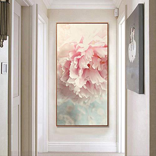 Roze Bloem Rose Foto Canvas Schilderij Woonkamer Slaapkamer Muurschildering Moderne Decoratie Home Schilderen Frameloze 20X40CM GEEN FRAME