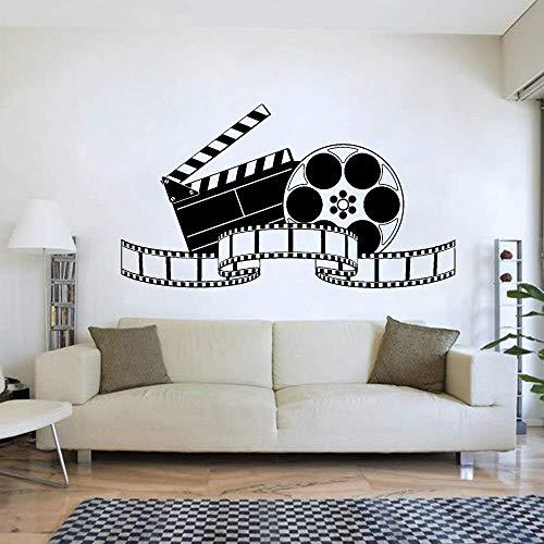 Cine Retro Arte Cine Película Película Pegatinas De Pared Mural Cartel Vintage Vinilo Tatuajes De Pared Dormitorio Casa Adorno Cine En Casa 76 * 42Cm