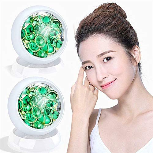 DBWICH 28Pcs/Bottles Ceramide Repair Face Serum, Shrink Pores Facial Capsule Essence, Green Tea Facial Serum, Deep Moisturiziing Nourishing Hydrating Skin Care Liquid (2 Bottle)